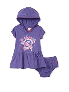 PUMA - Kids Baby Girl's Hooded Dress and Diaper Set (Purple)