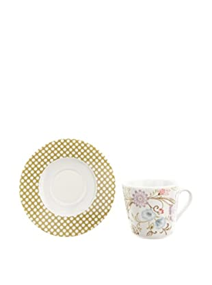 Creatable 166105 Oriental 6-er Set Kaffeetasse 20 cl + Untertasse 14 cm