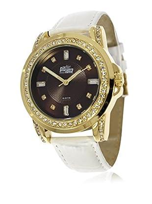 Pit Lane Uhr mit Miyota Uhrwerk Pl-4003-1 weiß 36 mm