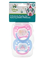 Disney Orthodontic Pacifier Set Featuring Disney Princess