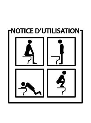 Ambiance Live Wandtattoo Toilets Instructions schwarz