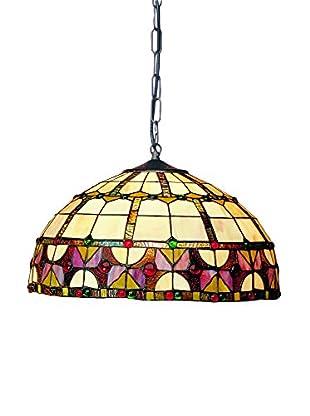 Lámpara De Suspensión Tiffany Multicolor