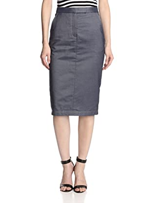 JASON WU Women's Silk Denim Trouser Skirt (Light Indigo)