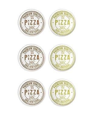 Molecuisine Pizzateller 6er Set Premium Quality weiß