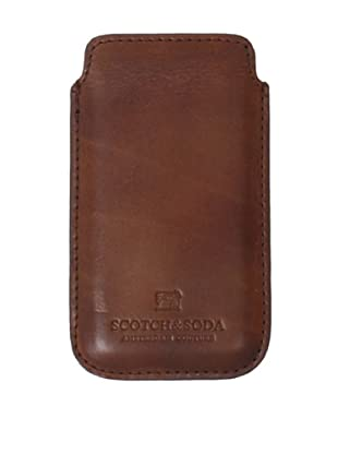 Scotch & Soda Men's Leather iPhone Sleeve (Brown)