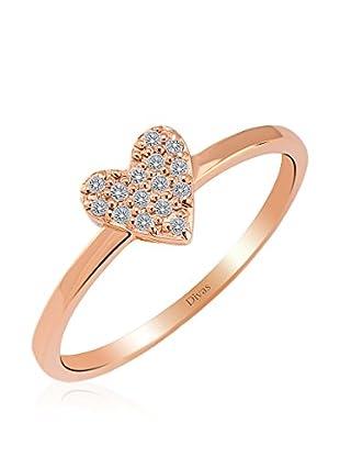 Divas Diamond Anillo Corazón Piedras (Oro)