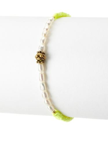 Shashi Neon Noor Adjustable Bracelet, Yellow