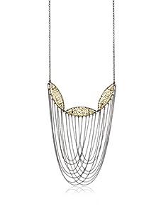 Courtney Kaye Annex Filigree Statement Necklace, Gold/Hematite