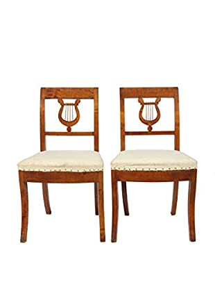 Pair of Duncan Phyfe-Style Chairs, Brown