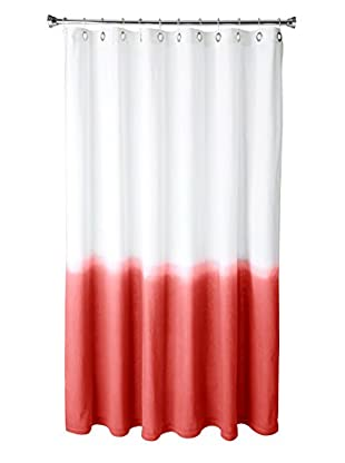 Nine Space Dip-Dye Shower Curtain, Red