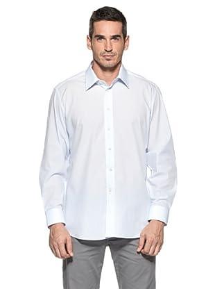 Camicissima Camisa Regular Fit Cuello Italiano (Celeste)