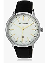 5129402 Black/White Analog Watch Ted Lapidus