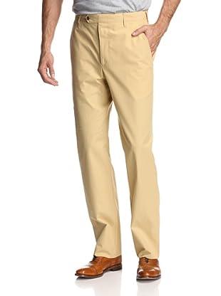 Oxxford Men's Solid Poplin Pant (Tan)