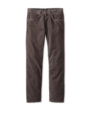 Façonnable Tailored Denim Men's 5-Pocket Washed Corduroy Pant (Grey)