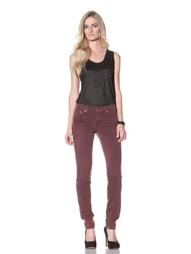 Red Engine Women's Cayenne Skinny Jean (Wine)
