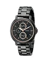 Fossil Womens ES3451 Chelsey Multifunction Black Stainless Steel Watch