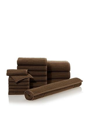 Chortex Oxford 16-Piece Bath Towel Set, Khaki