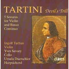 輸入盤 トゥルバン(Vn)、サヴァリ(Vc)、デュッチュラー(Cem) タルティーニ:《悪魔のトリル》、ヴァイオリンと通奏低音のための5つのソナタのAmazonの商品頁を開く