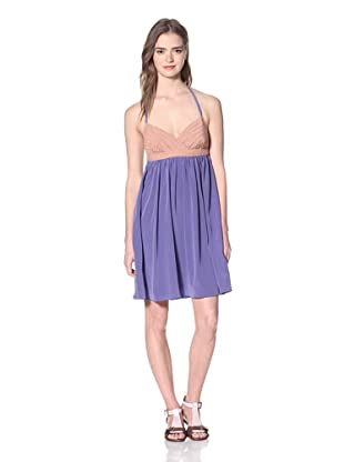 Nicole Miller Women's Mosaic Printed Halter Dress (Lilac)