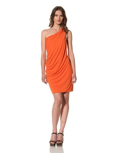 Cut25 Women's Matte Jersey One-Shoulder Dress (Grenadine)
