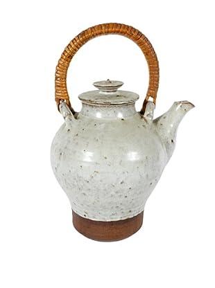 Mid-Century Stonewear Teapot, Grey