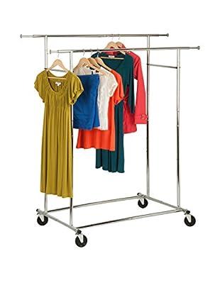 Honey-Can-Do Double Folding Commercial Garment Rack, Chrome