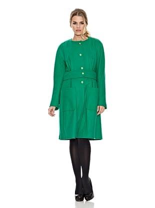 Monoplaza Abrigo Maggie (Verde Liso)
