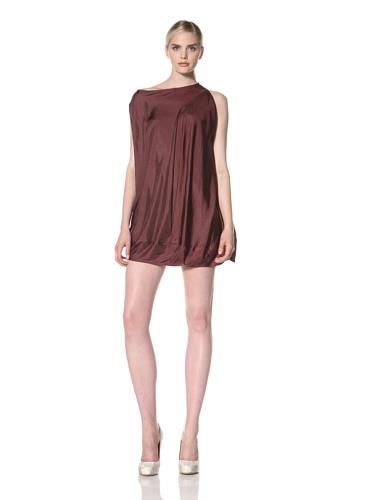 Zero + Maria Cornejo Women's Off Shoulder Bubble Dress (Aubergine)
