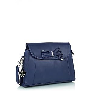 Butterflies Elegant Hand Bag (Blue)_BNS 0339