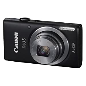 Canon IXUS 132 14.2MP Point and Shoot Camera (Black) with 8x Optical Zoom, Memory Card and Camera Case
