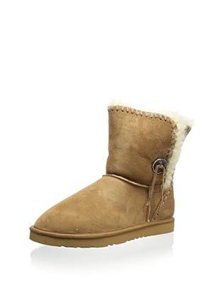 Koolaburra Women's Trishka Short 6 1/2 Inch Boot (Chestnut)