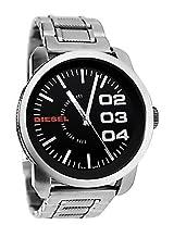 Diesel Designer DZ1370 Silver Round Dial Stainless Steel Strap Analogue Watch - For Men