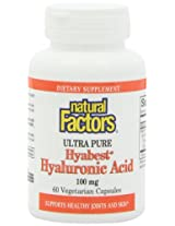Natural Factors Hyabest Hyaluronic Acid Veg-Capsules, 60-Count