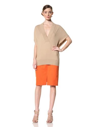 Magaschoni Women's V-Neck Sweater (Topaz)