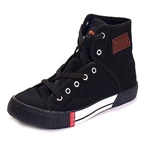 Sparx SM-106 Men's Anklet Canvas Shoes - Black