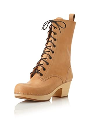 Swedish Hasbeens Women's Lace-Up High Boot (Nature)