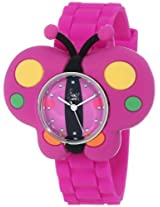 "Frenzy Kids' FR2004 ""Butterfly Critter Face"" Purple Band Children's Watch"