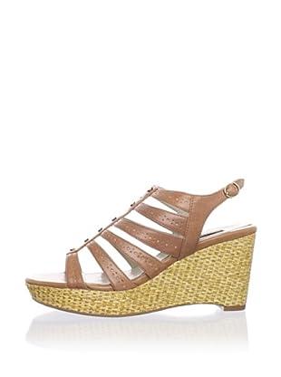 Adrienne Vittadini Women's Cody Platform Sandal (Tobacco)