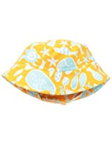 Flap Happy Baby Boys' UPF 50+ Crusher Hat, Tangerine Tide, Small