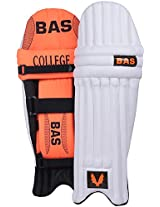 BAS College Men's PVC Cricket Batting Pads (Size: Men, Orange & Black)