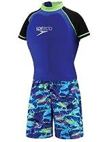 Speedo Girls' Boys' UV Polywog Swimsuit, Blue - Blue - SM-7-8