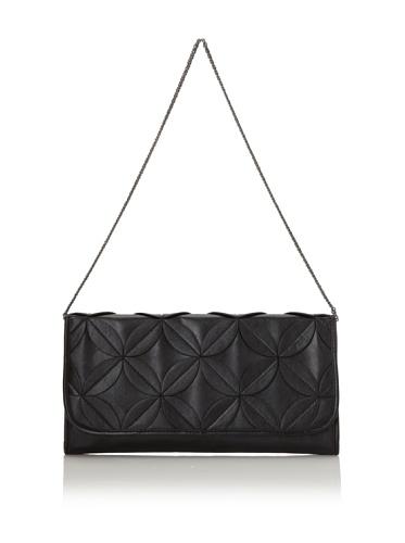 Danielle Nicole Women's Petal Envelope Clutch, Black