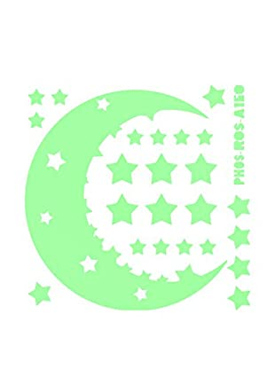 Ambiance Sticker Wandtattoo Moon And Stars Glow In The Darks
