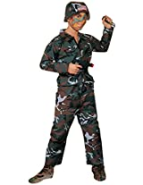 Forum Novelties Forest Camo Soldier Costume, Child Large
