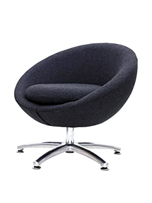 Overman International Five Prong Base Astro Chair, Black
