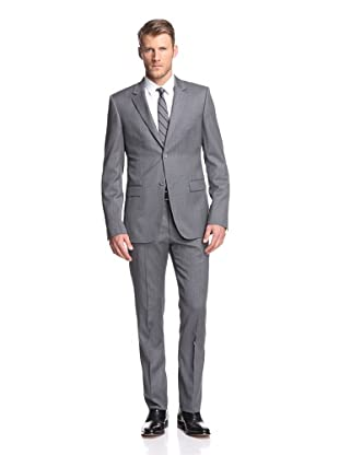 Calvin Klein Collection Men's Bowery 2-Button Suit (Light Heather Grey)