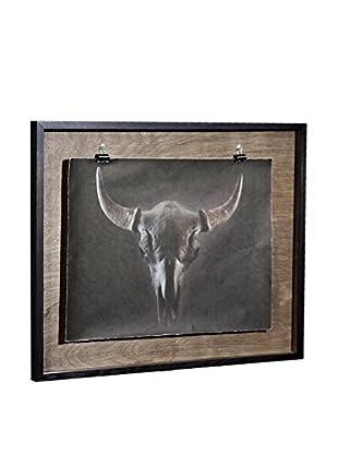 Chris Dunker for Phylum Design Bison Skull Black, Photograph in Floating Frame