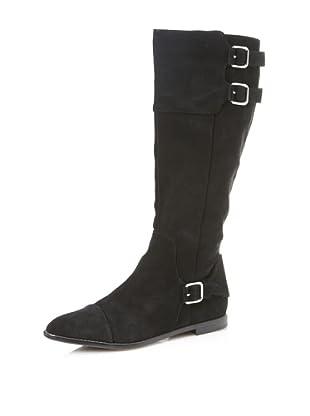 Calvin Klein Women's Tallory Suede Boot (Black)