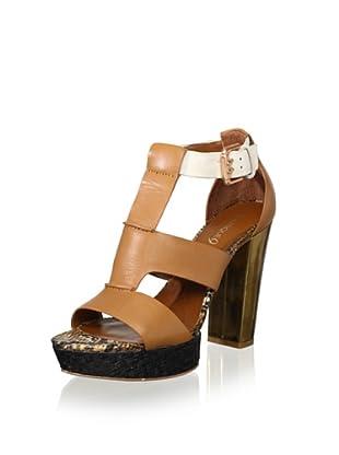 Boutique 9 Women's Rivington T-Front Sandal (Light Brown)