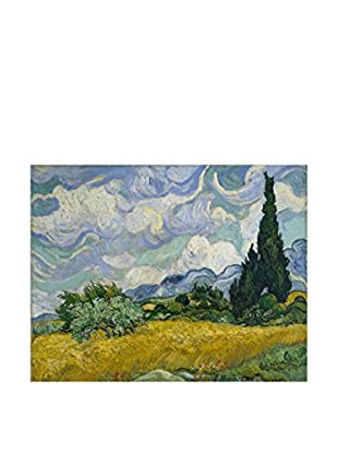 Legendarte Leinwandbild Campo Di Grano Coi Cipressi di Vincent Van Gogh